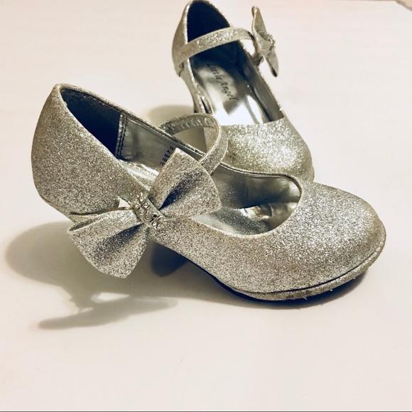 Little Angels Other - Little Angel Girls Glitter Silver High Heels